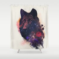 wolf Shower Curtains featuring Universal Wolf by Robert Farkas