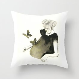 Le Farfalle Nello Stomaco Throw Pillow