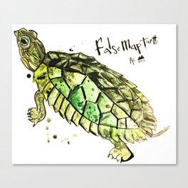 False Map Turtle Canvas Print