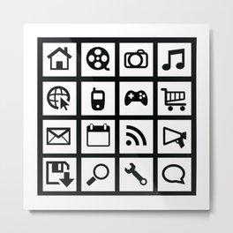 Web Icons Metal Print