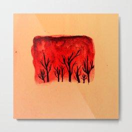 Warm forest Metal Print
