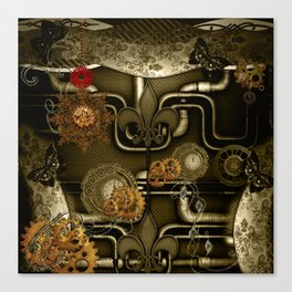 Wonderful noble steampunk design Canvas Print