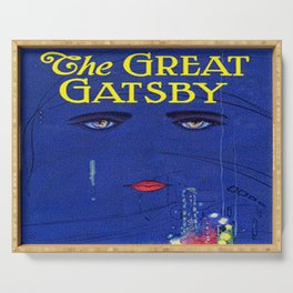 The Great Gatsby vintage book cover - Fitzgerald Serving Tray