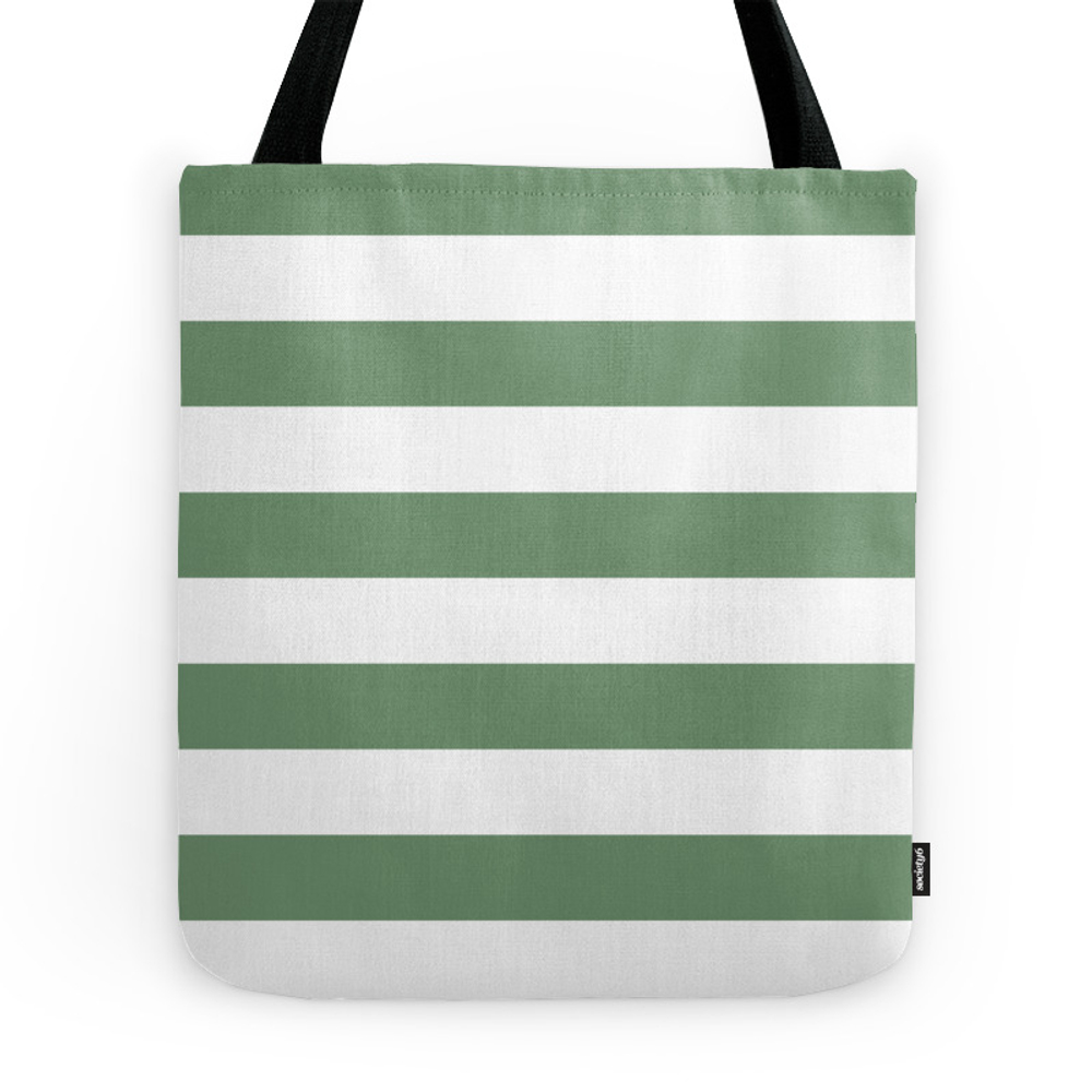 Green Stripes Pattern Tote Purse by studiopico (TBG7871211) photo
