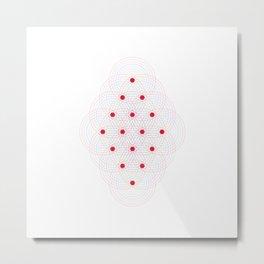 Tetractys - 144 Circles Metal Print