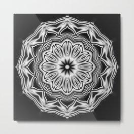 Black-white kaleidoscope acoustics Metal Print