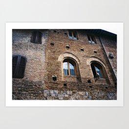 Italian Woman out of Window Art Print