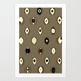 eyes pattern Art Print