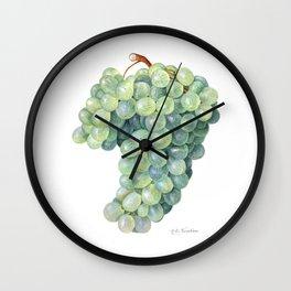 Green Grape Wall Clock