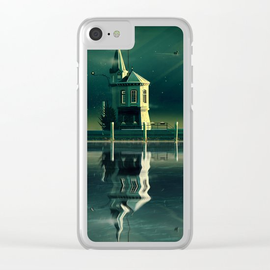 Castle in the Water Clear iPhone Case