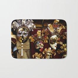 Venice Carnival Masks -Venice Italy Bath Mat