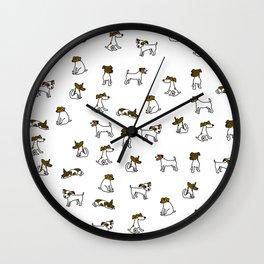 Jack Russell Terrier Cartoon Wall Clock
