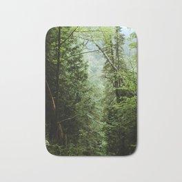 Deep Green Forest Bath Mat