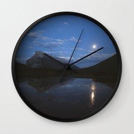 Full Moon Over Vermillion Lakes   Banff National Park, Alberta, Canada   John Hill Photography Wall Clock