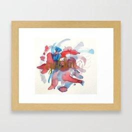 Golden Watercolour Framed Art Print