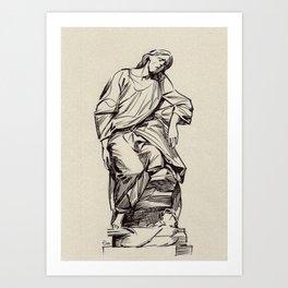 Jesus, St-Roch, Paris Art Print