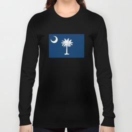 Flag of South Carolina - Authentic High Quality Image Long Sleeve T-shirt