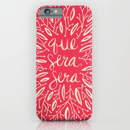 Whatever Will Be, Will Be – Melon Palette iPhone Case