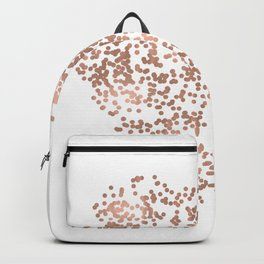 Rose Gold Glam Confetti Heart Backpack