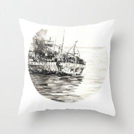 GHOST SHIP II Throw Pillow