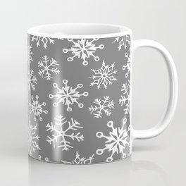 Snowflakes Pattern (Light Gray) Coffee Mug