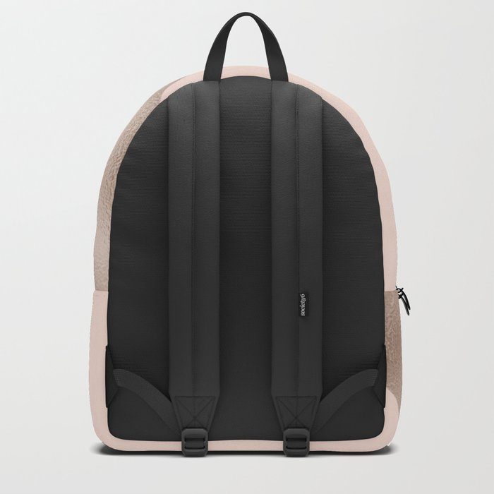Blush and taupe shine Backpack