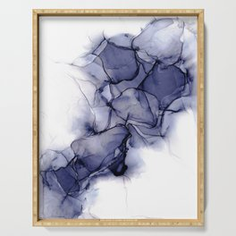 Purple Wispy: Original Abstract Alcohol Ink Painting Serving Tray