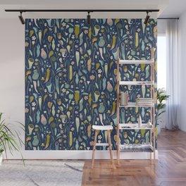 Fool's Paradise [dark blue] Wall Mural