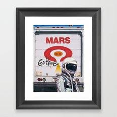 Mars Go Home Framed Art Print