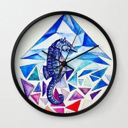 Seahorse on the Ocean floor Wall Clock