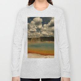Sunset Lake Under A Cloudy Sky Long Sleeve T-shirt