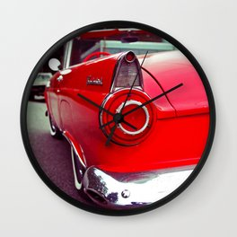 Nostalgic red Wall Clock