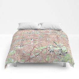 Greensboro North Carolina Map (1997) Comforters