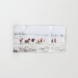 Winter Horses Hand & Bath Towel