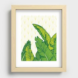 Tropical Leaves Recessed Framed Print