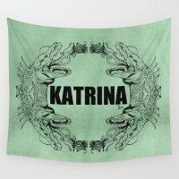 kaiju Wall Tapestries featuring Hurricane Katrina - Kaiju   by Mr.Beauchene