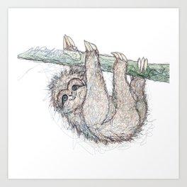 Be Slothful like a Sloth Art Print