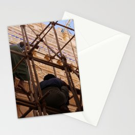 Workers Renovate Stupa, Bagan, Myanmar Stationery Cards