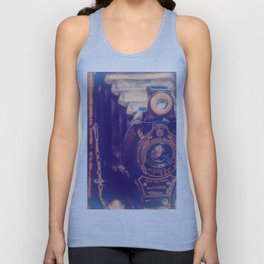 Preserving the Past a digital photograph of a vintage folding camera Unisex Tank Top