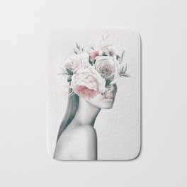 WOMAN WITH FLOWERS 11 Bath Mat