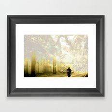 Retrollage 3.. Framed Art Print