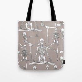 Skeleton Yoga Tote Bag