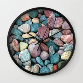 Colorful Rocks Wall Clock