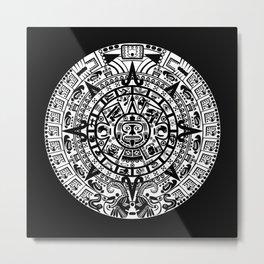 Mayan Calendar Metal Print