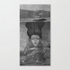 Sea Lady illustration Canvas Print
