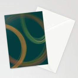 Modern Abstract Swirls Stationery Cards