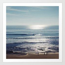 SILVER OCEAN1 Art Print