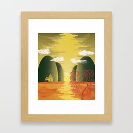 Chinese Landscape Framed Art Print
