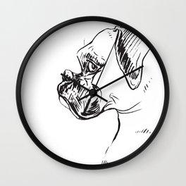 Boxer Dog Profile Wall Clock
