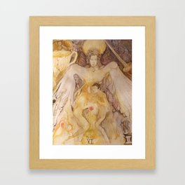 Lovers in gold and purple Framed Art Print